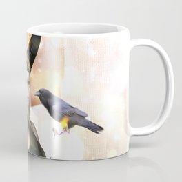 Beautiful dark fairy with crow Coffee Mug