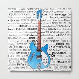 Music for the Soul & Spirit - Blue Series Metal Print