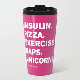 Insulin Pizza Naps (Pink Yarrow) Travel Mug