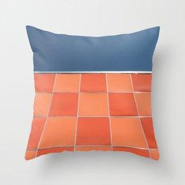 check it out ! mid century facade Throw Pillow
