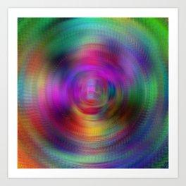 Radial Rainbow Art Print