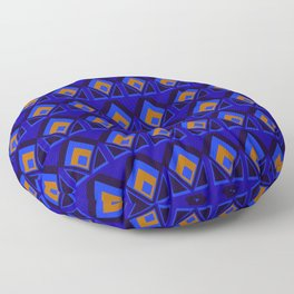 Blue and Orange Pattern Floor Pillow