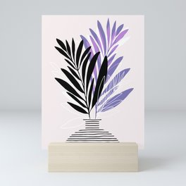 Lavender Olive Branches / Contemporary House Plant Drawing Mini Art Print