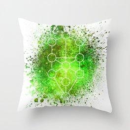 Tree Of Life Gaia Sacred Gemoetry Throw Pillow