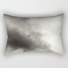 Silhouette of An Airplane on a Dreary Day Rectangular Pillow