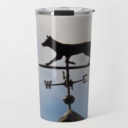 Coyote Shaped weather vane Travel Mug