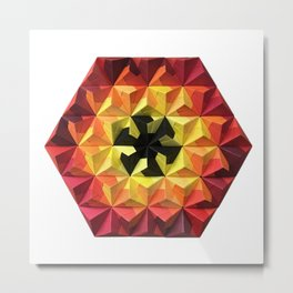 Origami Oh-Seven-Two Fire Metal Print