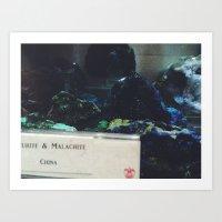 malachite Art Prints featuring Malachite by Ashley Haywood