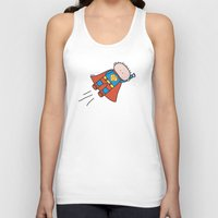superheros Tank Tops featuring Superheros by oekie