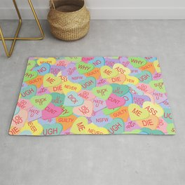 Candy Hearts Pattern - NSFW Rug