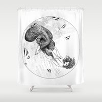 apollonia Shower Curtains featuring asc 438 - L'attachement pathologique (The stalking) by From Apollonia with Love