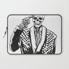 Suicide skeleton illustration Laptop Sleeve