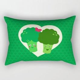 Broccoli in love Rectangular Pillow