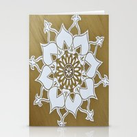 golden Stationery Cards featuring Golden by Aries Art