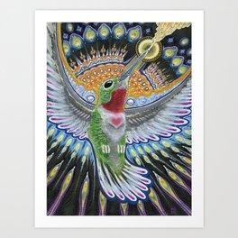 Beija Flor Art Print