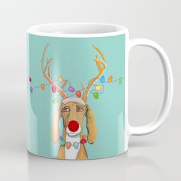 George the Holiday Hound Coffee Mug