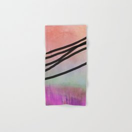 Pink Abstract with Lines - Pastel Hand & Bath Towel