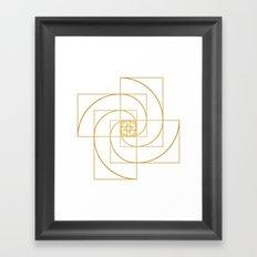 Golden Pinwheel Framed Art Print