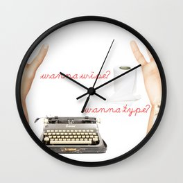 Wipe or Type? Wall Clock