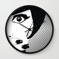 silent Wall Clocks featuring silent by Ezgi Kaya