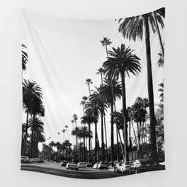 Los Angeles Black and White Wall Tapestry