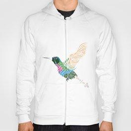 Abstract Hummingbird ~ Garnet-throated Variant Hoody