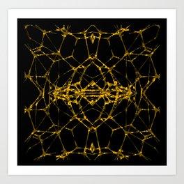 Gold DNA Art Print