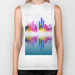 Color New York Skyline 02 Biker Tank