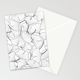 ginkgo leaves (white) Stationery Cards