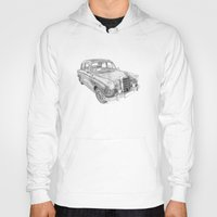 mercedes Hoodies featuring Mercedes-Benz 180 by Gábor Vida