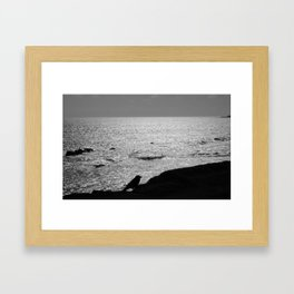 ALONE AT SEA Framed Art Print