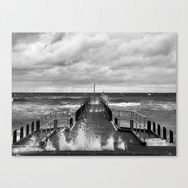Frankston Pier in a storm Canvas Print