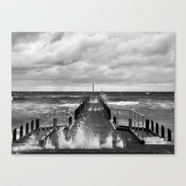 Frankston Pier in a storm Canvas Print