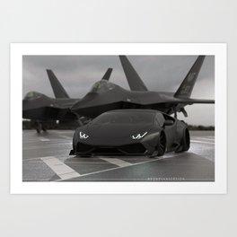 Stealth Mode Art Print