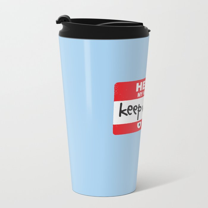The Red Badge of Discourage Metal Travel Mug