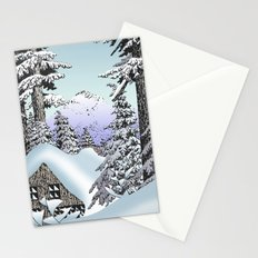 Snowed in the Douglas Fir Stationery Cards