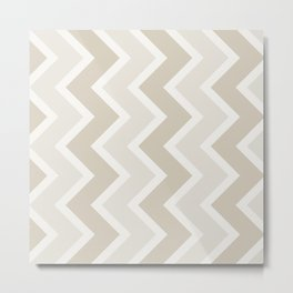 Coffee and Cream Chevron Metal Print
