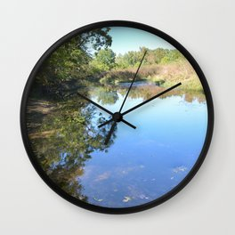 Where Canoes and Raccoons Go Series, No. 29 Wall Clock
