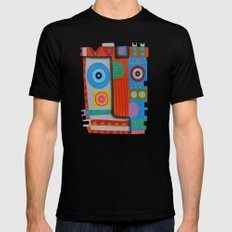Your self portrait MEDIUM Black Mens Fitted Tee
