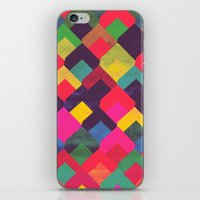 georgiana paraschiv iPhone & iPod Skins featuring colour + pattern 11 by Georgiana Paraschiv