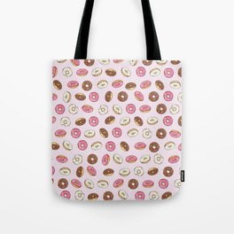 ALL the donuts! Rainbow on Pink Tote Bag