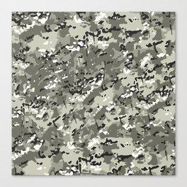 Beige White Popular Multi Camo Pattern Canvas Print