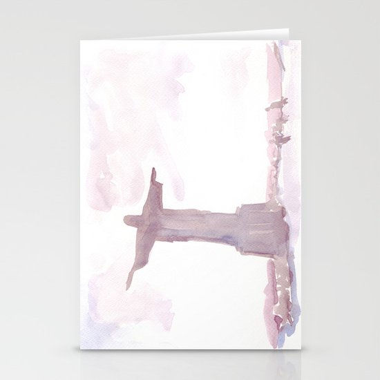 Watercolor landscape illustration_Rio Stationery Cards