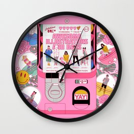 Awesome Illustrators and Baes Wall Clock