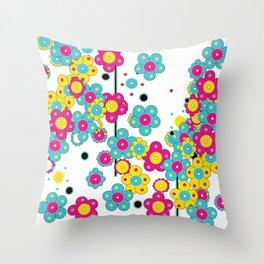 Flower Power Shower Throw Pillow
