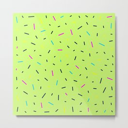 Green Sprinkles Metal Print