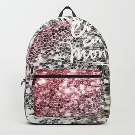 Enjoy Every Moment-Beautiful Color Gradient Chunky Glitter Backpack