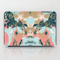 college iPad Cases featuring Eisley - Modern fresh abstract painting in bright colors perfect for trendy girls decor college by CharlotteWinter
