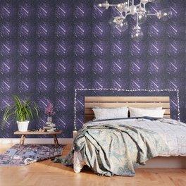 Flying meteors. Ultra violet. Wallpaper