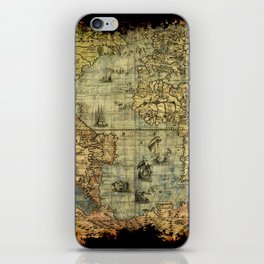 Vintage Old World Map iPhone Skin